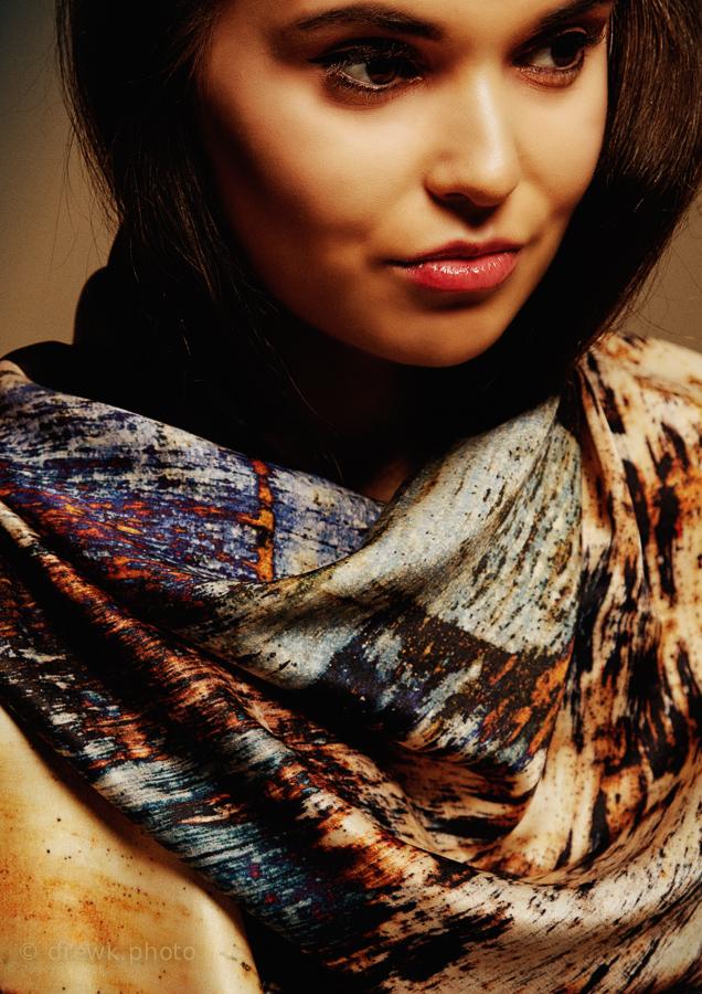 Scarves by Niamh Daniels Model : Borislava B. Marangozova<br /> HMUA : Shannon Maguire