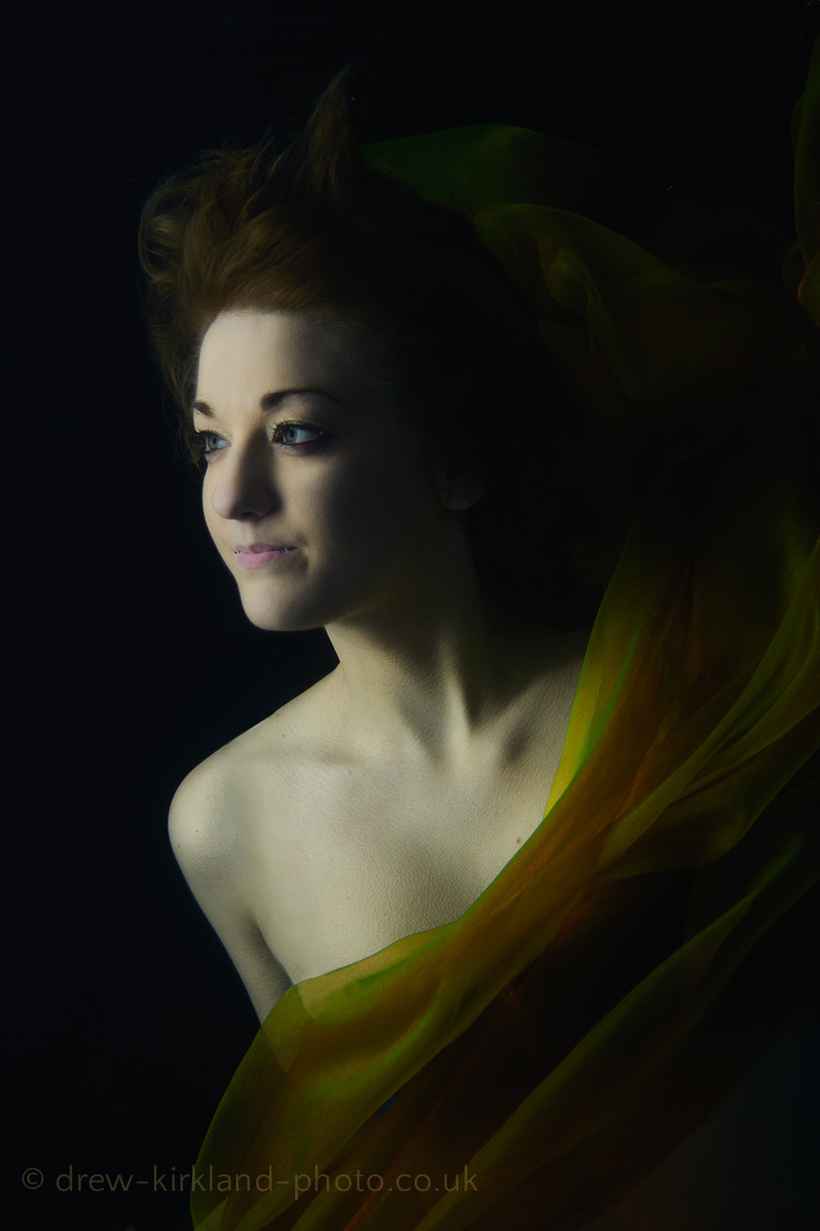 Underwater with model Tiana Mai