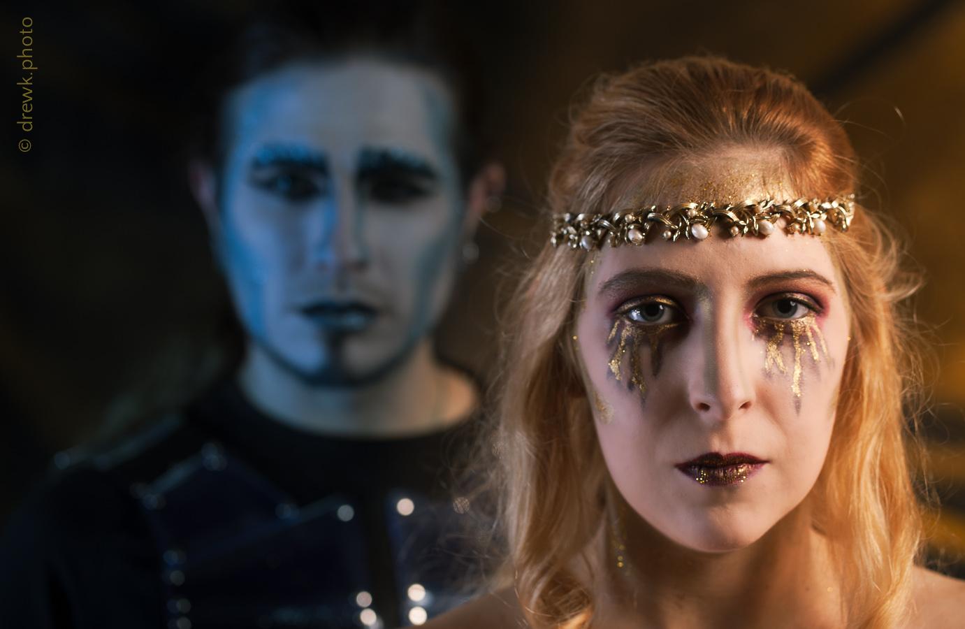 Hades and Persephone Models : Nenedhel & Count Chronos Morté<br/> Hair & Makeup Artist : Tamaris Orton