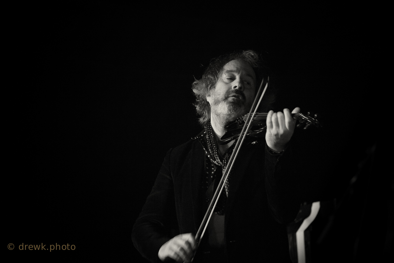 Steve Wickham .. of The Waterboys, playing Moseley Folk Festival in 2014