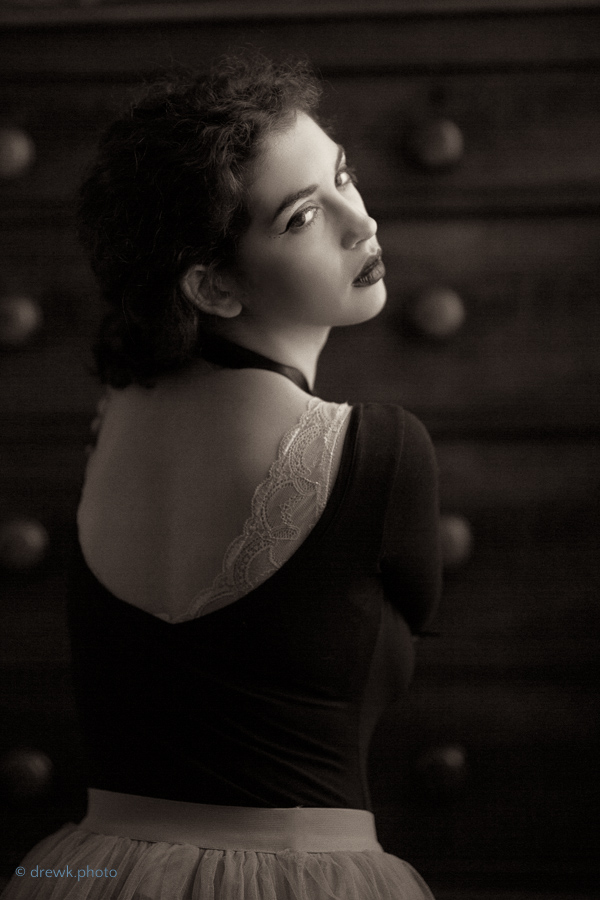 model : Argine The soft, natural light works well with a sepia treatment<br /> Taken at Sandon Studio